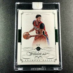 Anthony Davis 2014 Panini Flawless Gems 39 Emerald Parallel Sp And039d 4/5 Nba Rare