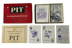 1904 Parker Brothers Pit Card Game Complete With Instructions