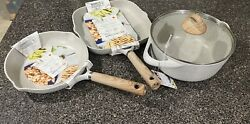 Masterclass Premium Collection Cookware - 3 Piece Set. Skillets And Grill Pan.