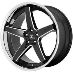 4-asanti Abl31 Regal 22x9 5x120 +32mm Black/milled Ssl Wheels Rims 22 Inch