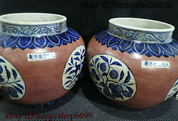 Collect Ancient China Rare Dynasty Porcelain Flower Can Type Flower Bottle Pair