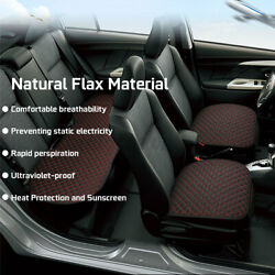 Universal Suv Car Seat Pad Mat Breathable Flax Protector For Auto Chair Cushion
