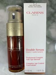 Clarins Double Serum Complete Age Control Concentrate 1.6 oz 50 ml NEW
