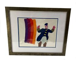 Original Animation Cel From The Beatles Yellow Submarine Captain Fred 1968