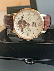 Ingersoll Limited Edition G Men's Watch Leather Day Date German In6900 Tsnc