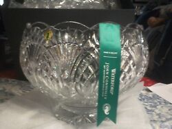 House Of Waterford Circle Of Friends 12 Crystal Footed Punch Bowl - Exquisite