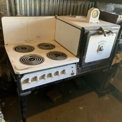 1927 Westinghouse Automatic Stove Oven Antique With Clock Vintage