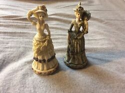 Resin Victorian Women Figurines Ks Collection 6 Tall