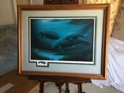 Robert Wyland And039endangered Manteeand039sand039 With Remarque Signed/numbered C/c 37/65
