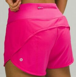 Latest Lulu 🍋 Nwt Speed Up Mid Rise Short 4 Sonic Pink8usa Free Usps Ship
