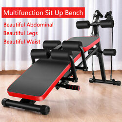 Abdominal Trainer Height Adjustable Exercise Dumbbell Bench Push Ups Machine