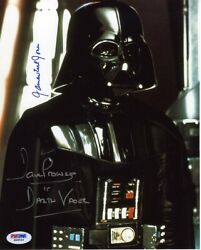 Star Wars Darth Vader Jones And Prowse Autographed Signed 8x10 Photo Psa/dna Coa