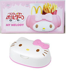My Melody Mcdonald's Drink And Potato Holder Sanrio Limited Car And Kitty Wet Tissue