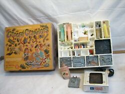 Vintage Mattel Thingmaker Oven Creepy Crawlers Toy Mold Plate Bugs Reptiles Sea