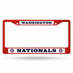Automotive Accessories - Washington Nationals Colored Chrome Frame Secondary Red