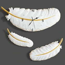 Feather Creative Wall Clock Modern Silent Design For Home Office Room Decoration