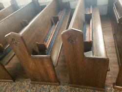 Antique Pre 1900 Church Pews With Kneelers 10and039 Furniture