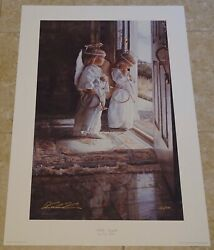 Steve Hanks Little Angels Limited Edition Sn Signed Lithograph Print 266/999