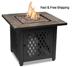 Outdoor Fire Table With Slate Tile Mantel , Endless Summer Gad1429sp