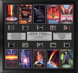 Star Trek Cinematic Collection Montage 20 X 19 Film Cell Special Edition Coa