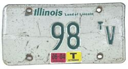 Illinois 2004 Old License Plate Garage Antique Vehicle Vtg Classic Truck Tag