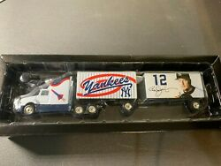 New York Yankees Collectible Die Cast Double Tractor Trailer W/ Roger Clemens