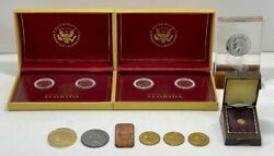 Collectible Frontier Mint Coins Bronze Ingot Fl State Quarters And Other [12]