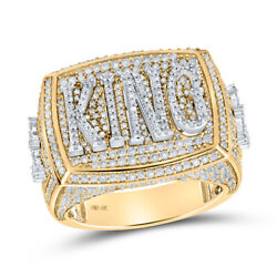 10kt Two-tone Gold Mens Round Diamond King Ring 2-3/4 Cttw