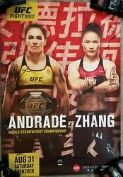 Ufc Fight Night Zhang Weili Vs Andrade First Chinese Ufc Champion Signed Sbc