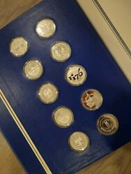 1976 The Fifty State Bicentennial Medal Collection / 50oz Sterling Silver