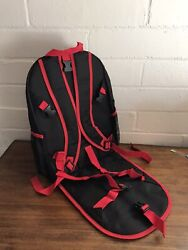 Red Black Backpack with Padded Seat Cushion Shoulder Kids Travel Bag Free Ship $12.90
