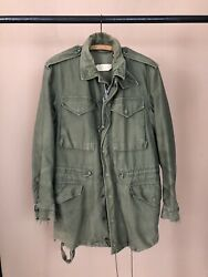 Vtg Us Army M-51 Military Mens Field Jacket Olive Green Og-107 M-1951 Small