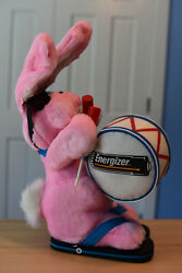 Large Club Energizer Pink Plush Stuffed Bunny Rabbit Toy 1995 W/ Club Pin And More