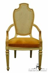 Century Furniture French Provincial Cane Back Dining Arm Chair