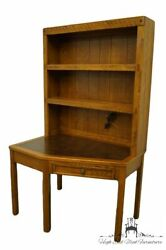 Dixie Furniture Clipper Ship Collection 44x30 Corner Writing Desk W. Lighted...