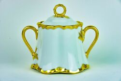 Hutschenreuther Selb Covered Sugar Bowl Hand Painted By Lkd