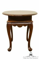 Mersman Solid Cherry Queen Anne Oval End / Lamp Table 252-05