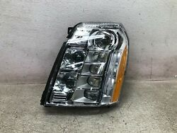 10-14 Cadillac Escalade Led Platinum Headlight Lh Left Driver Side Chipped Oem