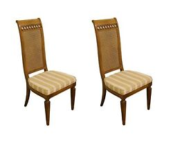 Set Of 5 Thomasville Furniture Bellini Collection Cane Back Dining Side Chair...