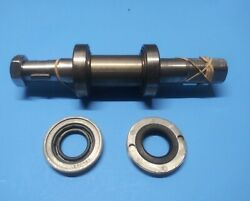 Lower Shaft Assembly For Biro 22 Meat Saw Complete With 2 Bearing Case Cap