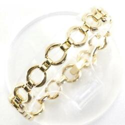 Jewelry 18k Yellow Gold Bracelet About21.7g Free Shipping Used