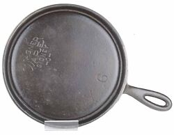 Vintage Wagner Ware No 6 Cast Iron Handled Griddle Restored Condition