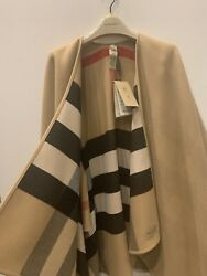 Nwt Charlotte Reversible Check Cape Poncho Coat