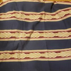Vintage Upholstery Striped Fabric 3 3 4 Yards x 48""