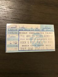 89 The Who In Tommy Benefit Rock And Roll Hall Of Fame Ticket Stub