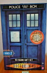 The Tenth 10 Doctor Who Ten Figure Gift Set Series 2 Large Tardis Shaped Box