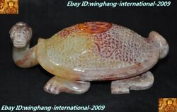 Rare Chinese Dynasty Hetian Jade Hand-carved Lucky Animal Turtle Tortoise Statue