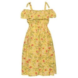 Bonnie Jean Off The Shoulder Girls Size 10 Floral Ruffle Spring Dress $14.80