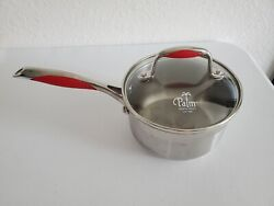 The Palm Restaurant Stainless Steel Pans 1.5 Qt Sauce Red Detail