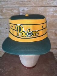 Vintage 80s Very Rare Green Bay Packers Pillbox Sports Specialties Hat Snapback